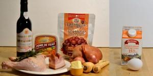 Poulet et purée patate douce et marrons