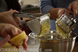 Gnocchis - Étape écrasage de patates