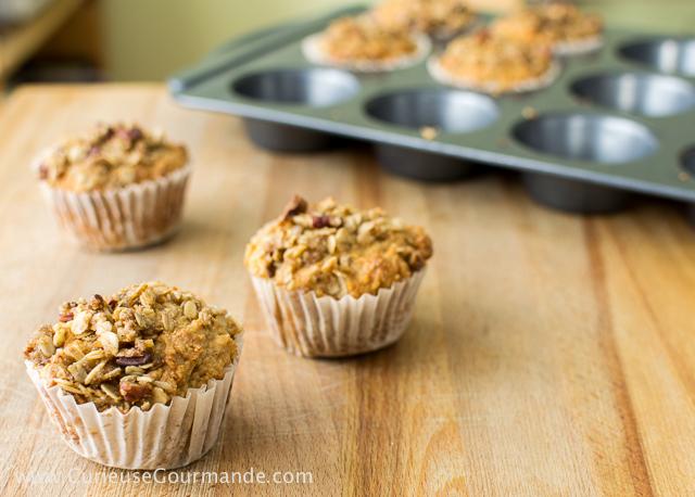 Recette de muffins aux poires et amandes, sans gluten | CurieuseGourmande.com