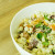 Salade estivale de pâtes citronnées avec tomates cerises, bacon et maïs | curieusegourmande.com